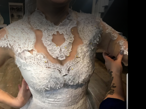 Re-design of the mothers dress -Colletti Threads